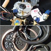 BRC полный комплект ГБО карбюраторный (без баллона, креплежа баллона и смесителя) до 136 л.с.